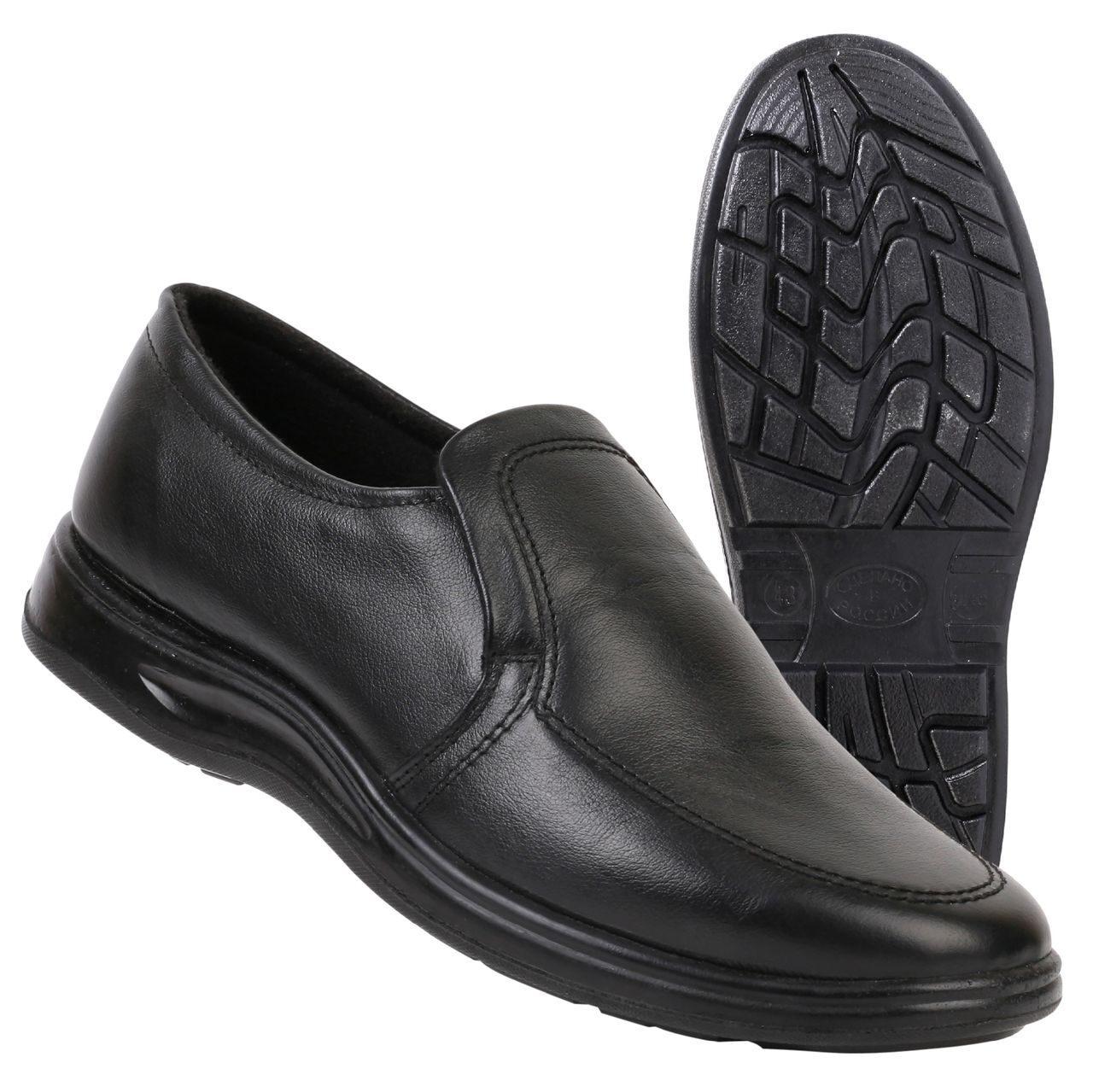 9dd81a808 Туфли мужские на резинке черные иск. кожа купить по выгодным ценам ...